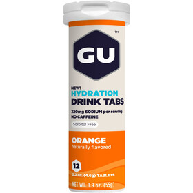 GU Energy Hydration Drink Tabs 12 Pieces Orange